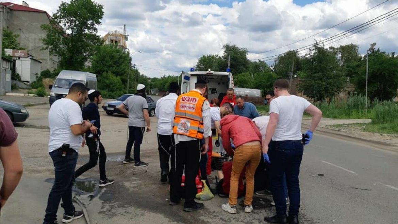 תאונת אופנוע סמוך לציון רבי נחמן מברסלב