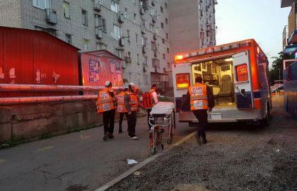 אומן: שריפה בבניין מגורים סמוך לציון רבי נחמן מברסלב