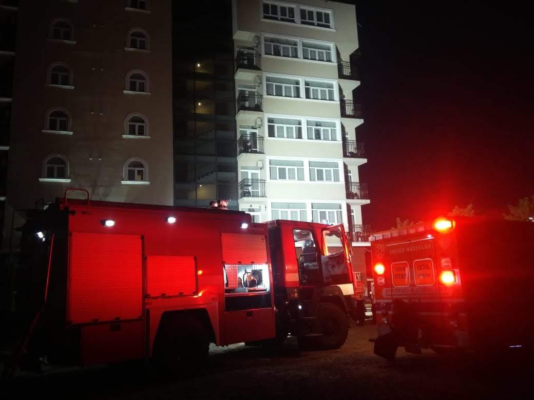 אומן – שריפה במלון אורות